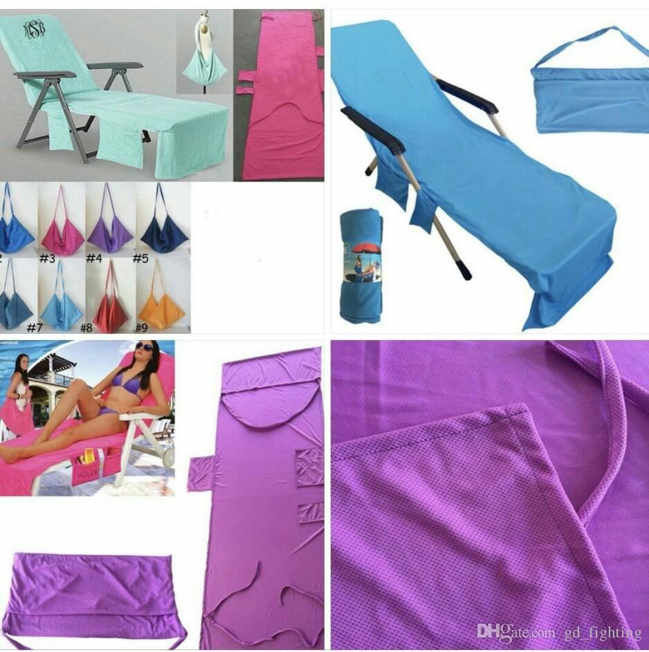 beach chair cover gravity repair cord 215x75cm lounger mate towel microfiber double velvet sunbath bed holiday garden towels settee slipcover