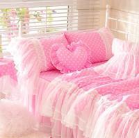 Cute Pink Polka Dot Bedding Set Teen Girl,Cotton Twin Full ...