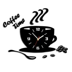 Kitchen Wall Clocks Scrubber 3d Diy Acrylic Clock Modern Coffee Time Sticker Cup Shape Decor Hollow Numeral Home Cheap Online