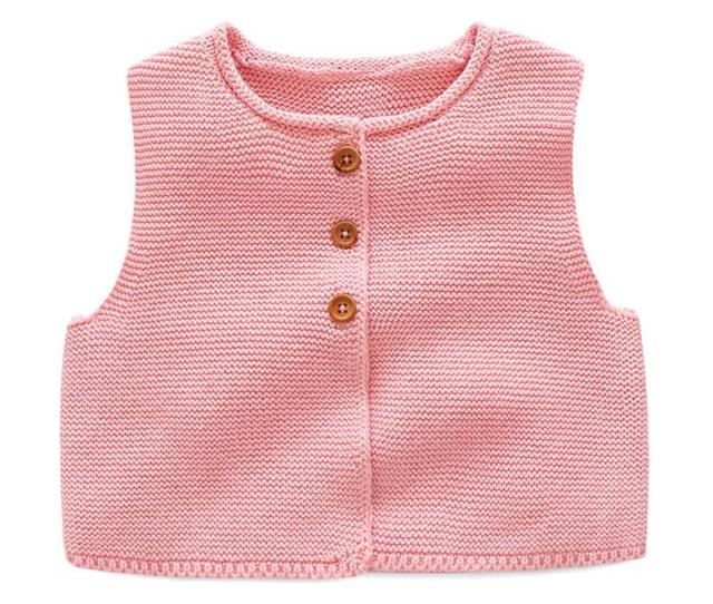 Fashion Style Kids Baby Casual Knitted Vest Coat Baby Boys Girls Crochet Cotton Vest Children Top Quality Sleeveless Sweaters Free Knitting Sweater Patterns