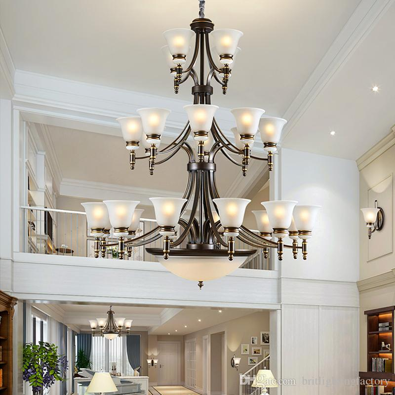 hotel with living room peacock themed modern led chandelier lighting villa hall staircase large chandeliers contemporary antique iron pendant lamps bedroom