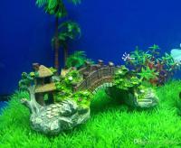 2019 Resin Aquarium Decoration Artificial Bridge Rockery ...