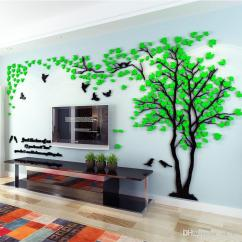 Living Room Tree Light Green Walls Ideas Wholesale Wall Stickers Acrylic Couple Bedroom Tv 3d Diy Home Decor Canada 2019 From Ok767 Cad 21 38 Dhgate