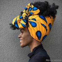 2018 African Head Wraps Extra Long 72x22 African Wax Print ...
