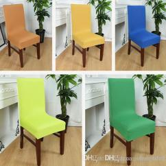 Quality Dining Room Chair Covers Ergonomic Sydney 2018high Home Cover Wedding Decoration Solid Colors Polyester Spandex For Party 1pcs