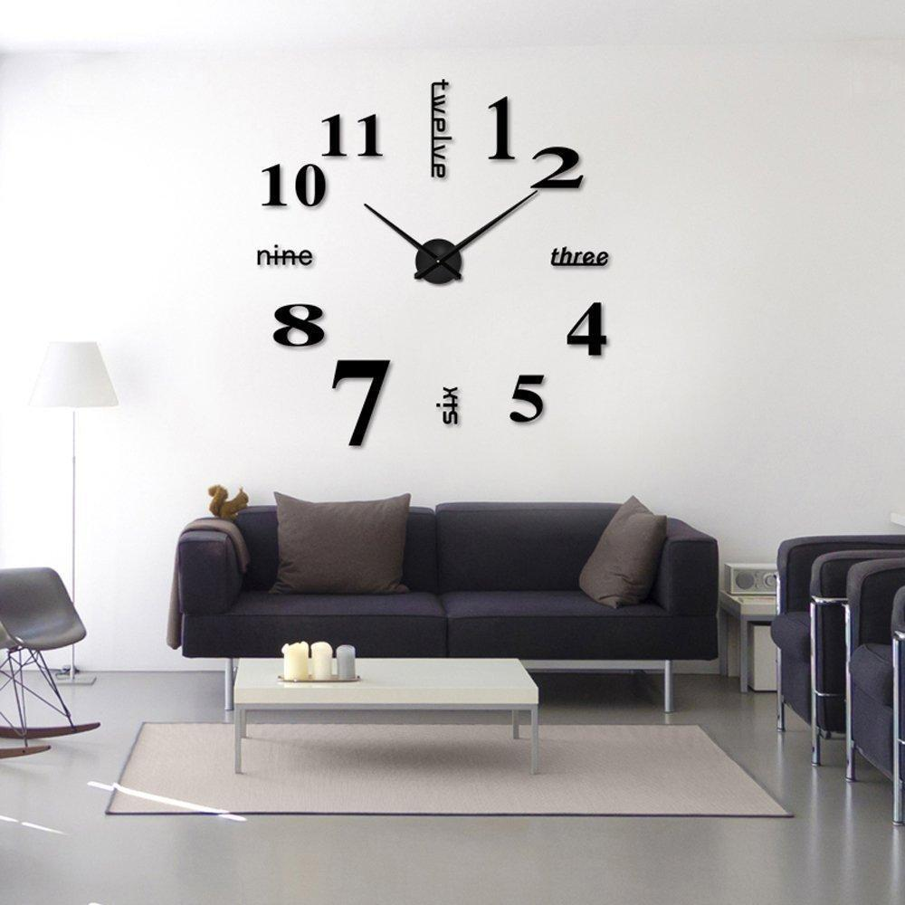 living room wall clocks australian outdoor rooms bedroom stickers clock diy personalized home decorations art 3d mirror mute wooden online wrought iron