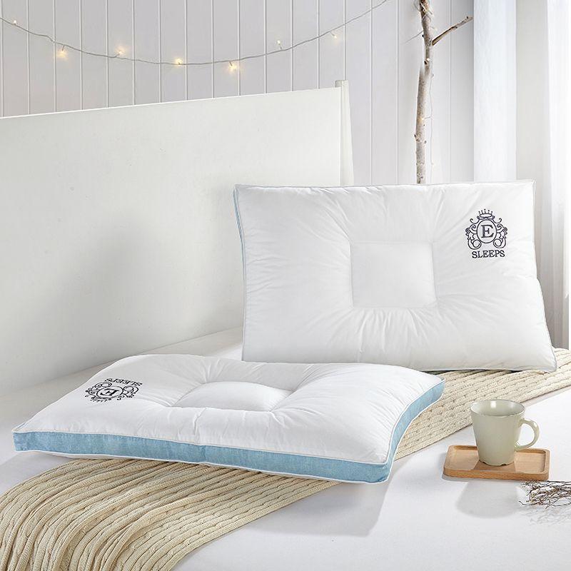acheter mode blanc solide hotel style oreillers 48x74 cm coton polyester filler cou oreiller massage therapie literie homeuse de 44 19 du diaolan dhgate
