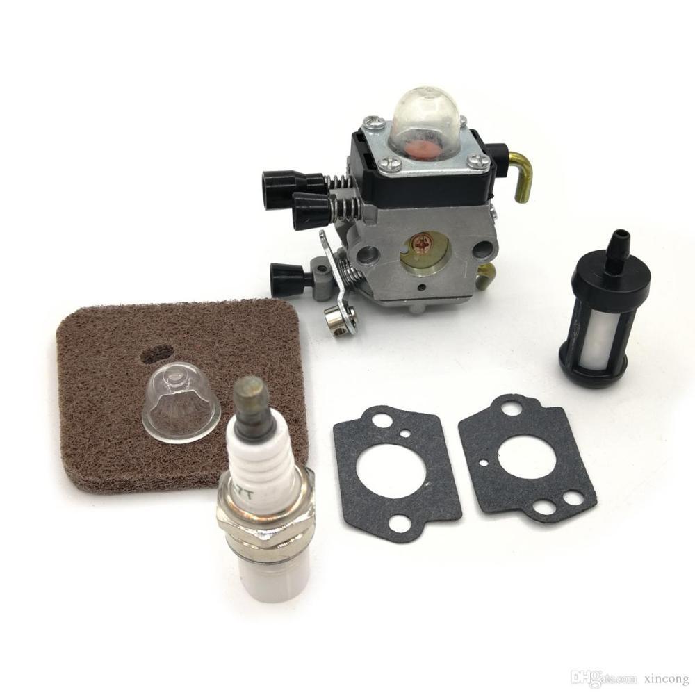 medium resolution of 2019 carburetor spark plug fuel filter air filter primer bulb for stihl fs38 fs45 fs45c fs45l fs46 fs46c fs55 fs55c fs55r fs55rc km55 trimmer from xincong