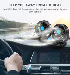 compre 12 v 24 v 360 grados all round ajustable auto auto aire cooling dual head fan bajo ruido ruido auto cooling air fan car accessor a 18 63 del  [ 1200 x 1200 Pixel ]