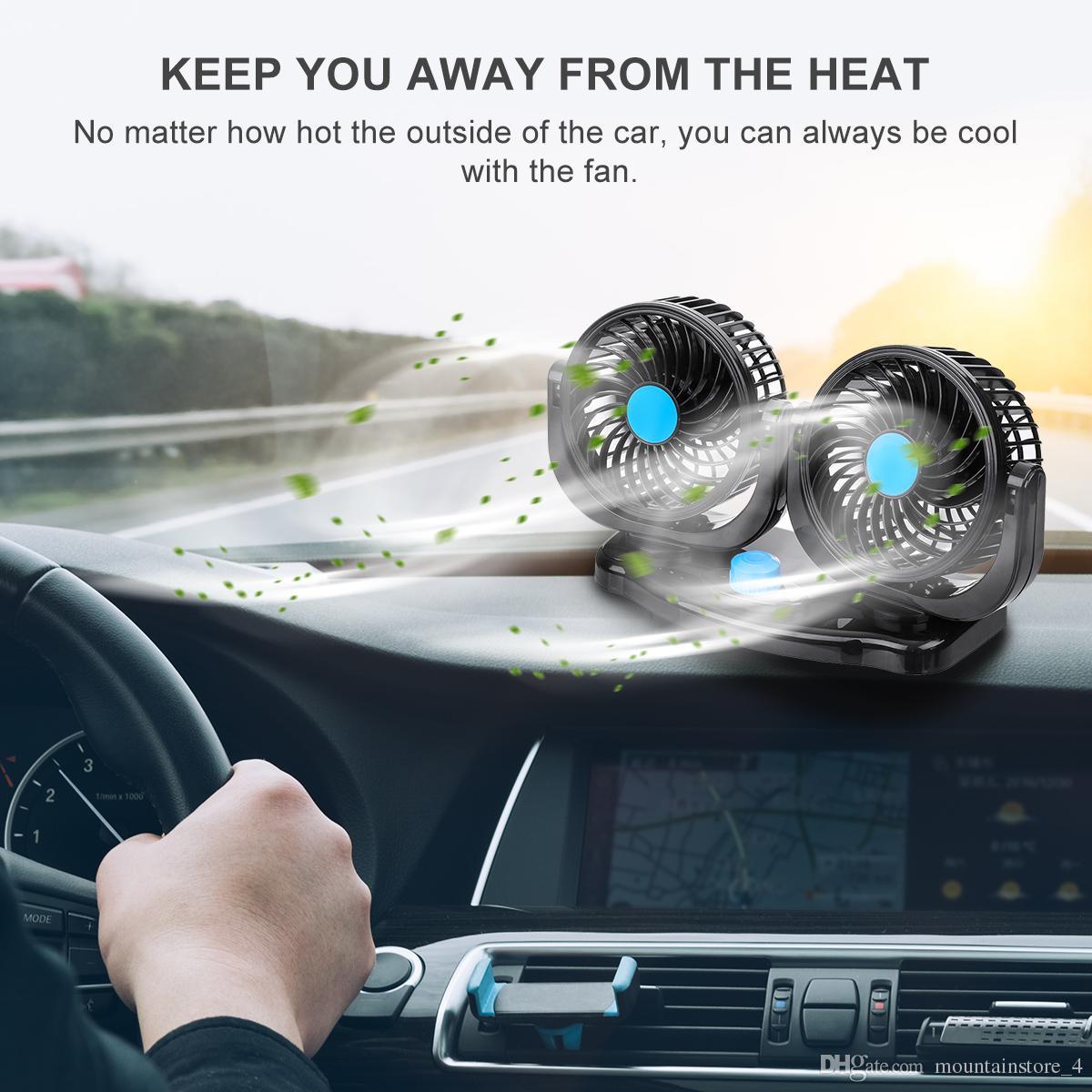 hight resolution of compre 12 v 24 v 360 grados all round ajustable auto auto aire cooling dual head fan bajo ruido ruido auto cooling air fan car accessor a 18 63 del