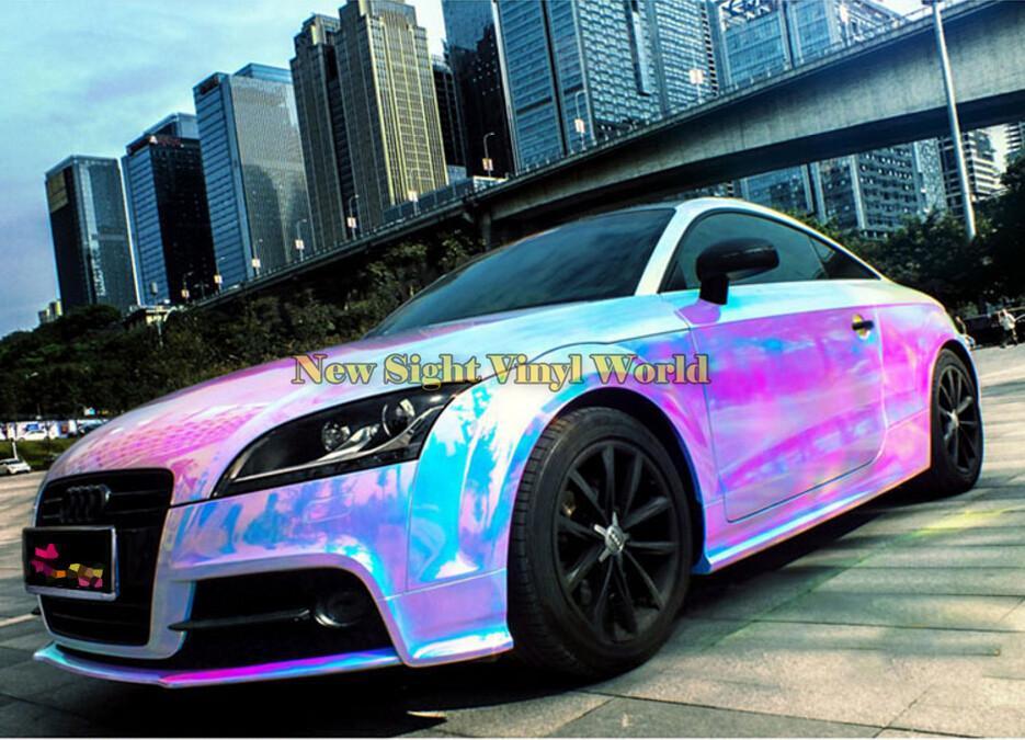 Dope Wallpaper Super Cars 2018 Premium Pink Rainbow Chrome Vinyl Wrapping Film
