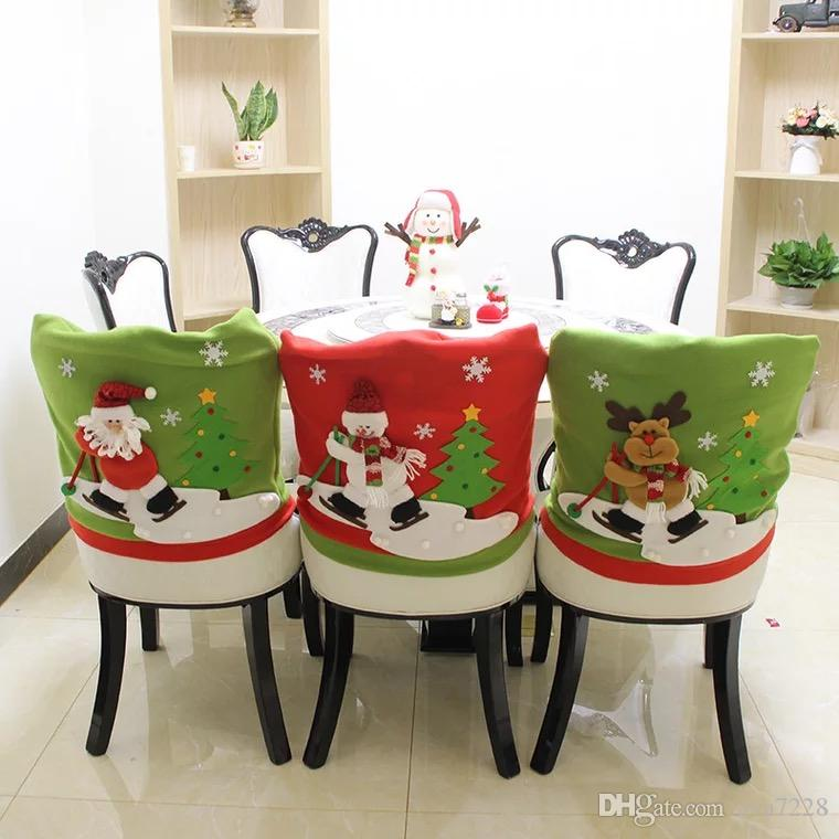 santa chair covers sets and table rentals near me 2019 best sale set hat christmas decor dinner xmas cap from ava7228 36 39 dhgate com