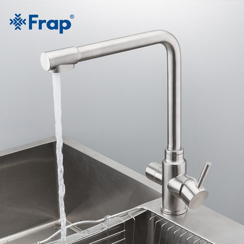 kitchen faucets stainless steel narrow base cabinet 2019 frap new waterfilter taps mixer drinking water filter faucet sink tap y40036 from olgar