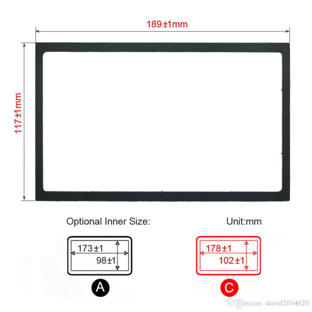 hight resolution of 2 din android car radio frame for mercedes benz a m vaneo w168 w163 w414 fascias auto stereo dvd panel gps dashboard trim frame decorative items for car