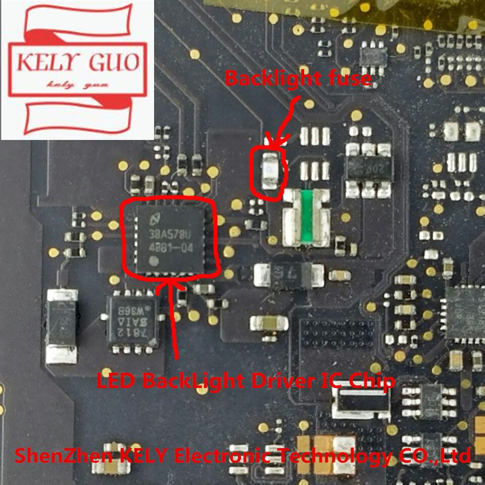 hight resolution of 10pair lot for led backlight driver ic chip and backlight fuse for macbook retina 13 a1502 820 3536 a logic board fix items