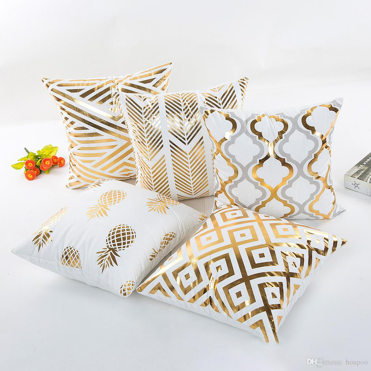 kitchen cushion covers curtain fabric for sale 45 45cm 5 styles gold patterns bedroom seat christmas gifts home decor accessories party decoration replacement outdoor sofa cushions