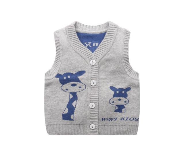 Giraffe Cute Baby Sweater Vest V Neck Baby Boys Knitted Vest Cardigan Infant Toddler Cartoon Autumn Winter Boys Sweater Sweater Pattern Free Knitting