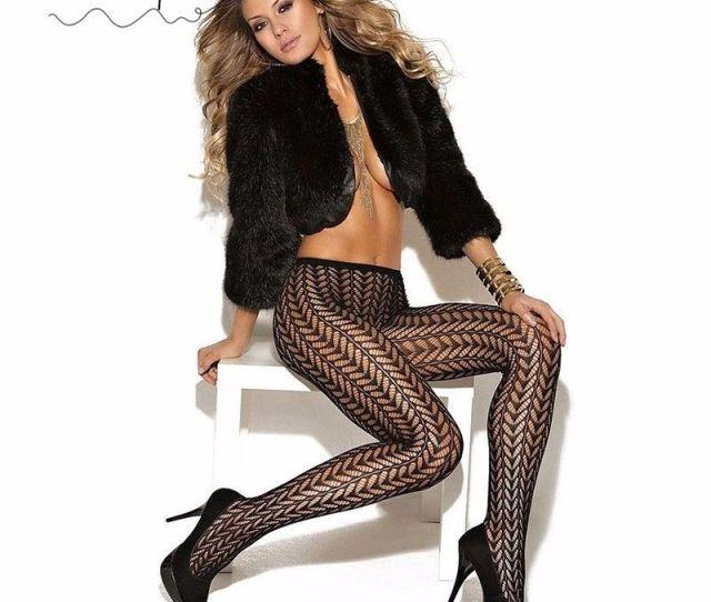 2019 Wholesale Women Pantyhose Sexy Female Stockings Fishnet Tights Sheer Black Fashion Plus Size Dance Street For Girls Clubwear Stripe Sw116 From Maoku