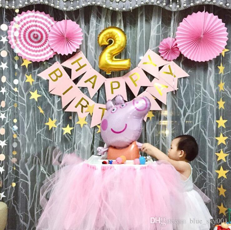 Alphabet Birthday Party Decorations Cartoon Pull Bar Letter Items Online