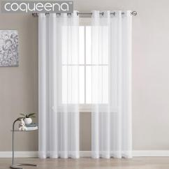 Curtains Kitchen Chrome Faucets Modern Plain White Sheer Voile Tulle For Living Room Bedroom Door Window Custom Ready Made 1 Panel 2019 From Isaaco