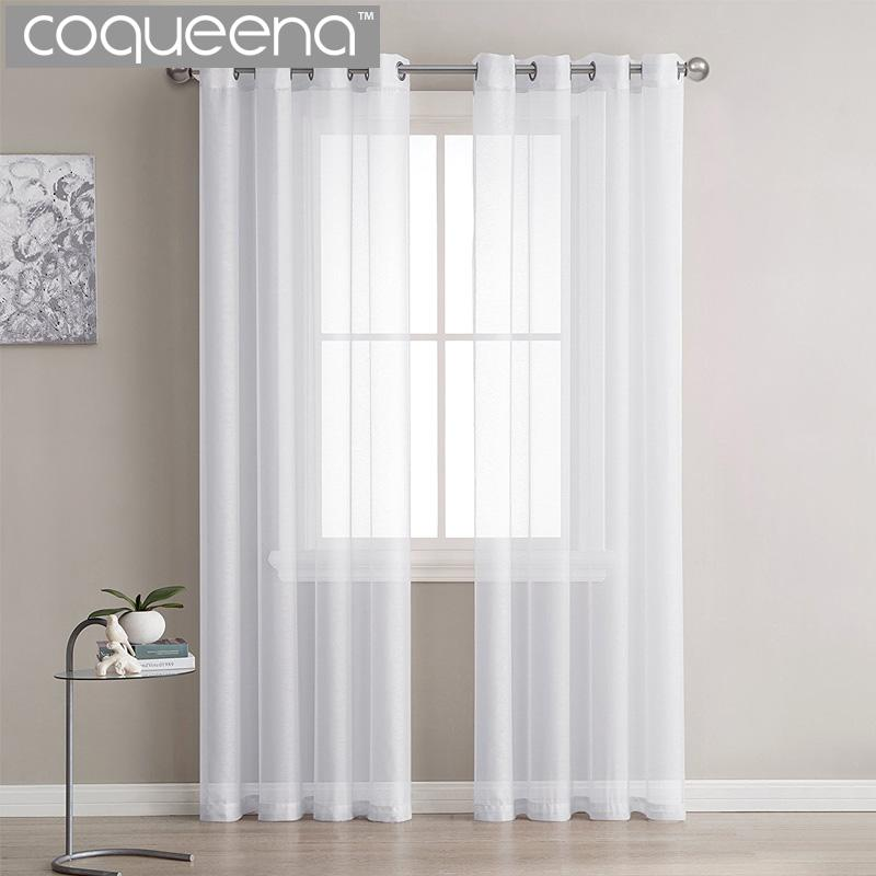 curtains kitchen stainless steel packages modern plain white sheer voile tulle for living room bedroom door window custom ready made 1 panel 2019 from isaaco