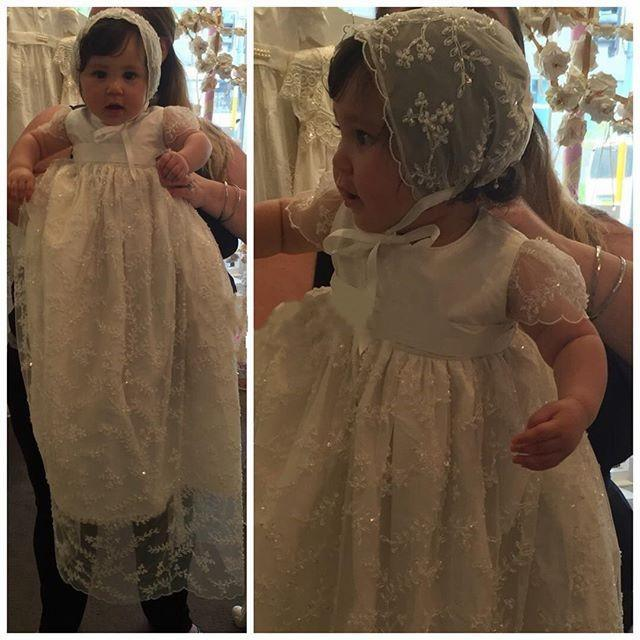 baby girls baptism gown