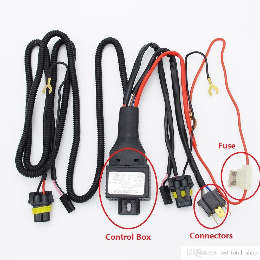 medium resolution of car 12v 35w 55w h4 h4 3 9003 hb2 bixenon bulbs relay harness for bi xenon projector lens control wiring controller wire fuse