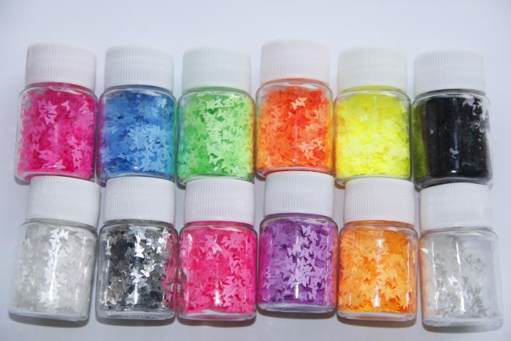 Solvent Resistant Glitter For Nail Polish Nail Ftempo