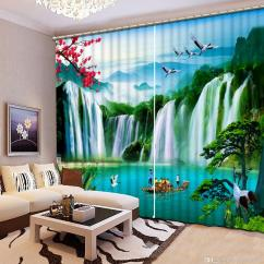 Modern Living Room Curtains Storage For Toys In Custom Tiger Falls Landscape Decorative Beads 3d Photo Home Goods Curtain Canada 2019 From Yiwu2017