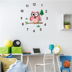 Living Room Wall Clocks Interior Design Ideas For Kerala Style Cute Cartoon Decorative Silent Clock Watches Kids Bedroom Home Art Sticker Decoration Canada 2018 From Isaaco