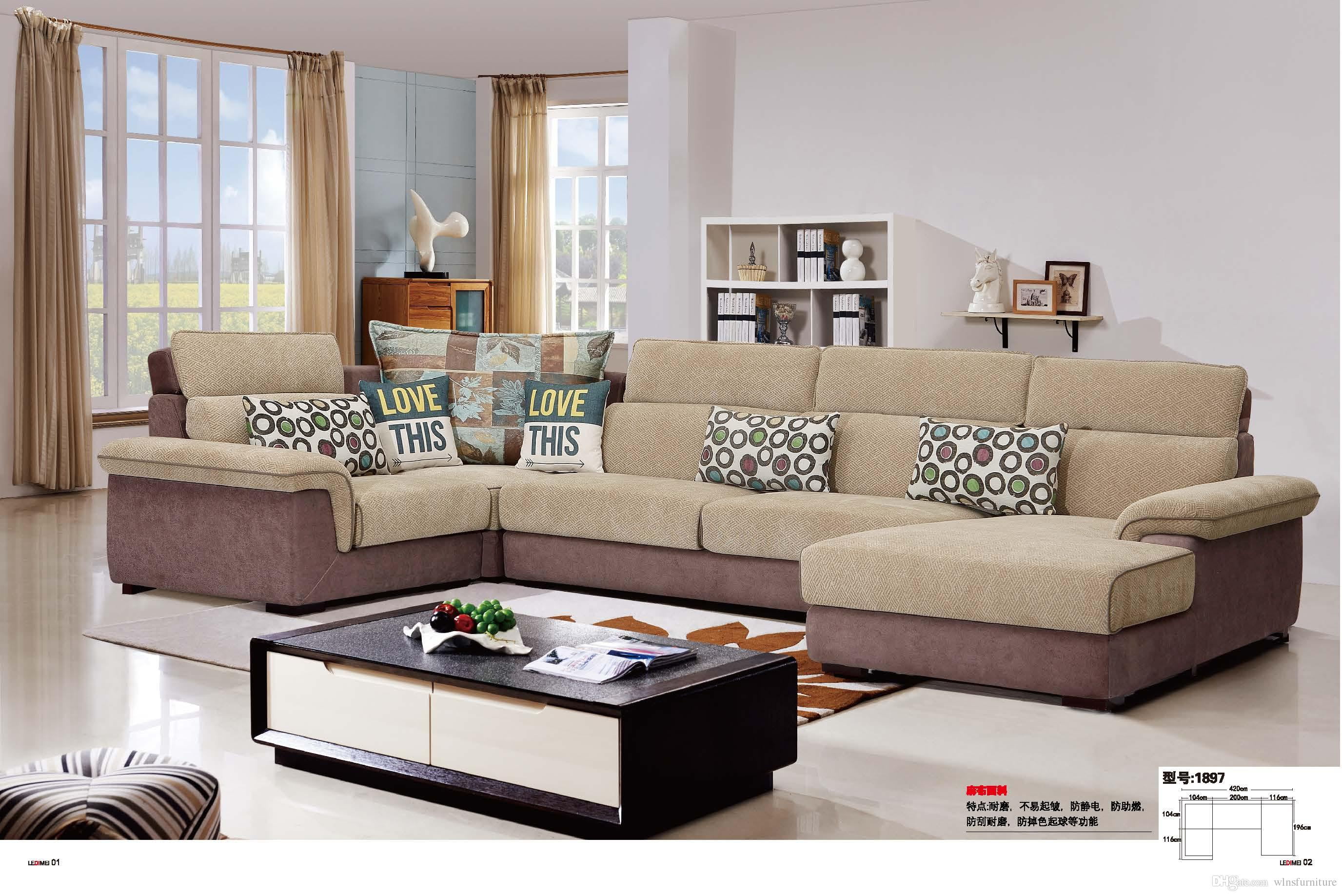 living room fabrics green rug 2019 modern fabric sofa u shape sectional anti bacterial comfortable soft set from wlnsfurniture 899 5 dhgate com