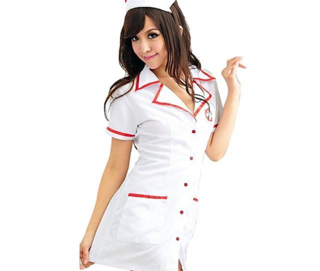 Compre Sexy Nurse Costume Set 2018 Mujeres Lenceria Sexy Hot White Nurse Uniforme Cosplay Para Mujeres Traje Erotico Tentador V Neck Dress 50 Y1892810 A