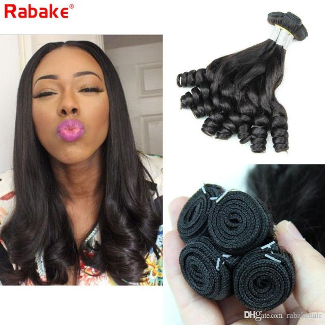 3 or 4 funmi remy human hair bundles romance curls rabake aunty bouncy egg curls malaysian funmi curly styles weave extensions for women