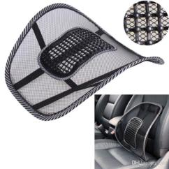 Office Chair Comfort Accessories Mid Century High Back Black Mesh Cloth Car Seat Cushion Lumbar Waist Support Pillow Automobiles Relief Pain Auto