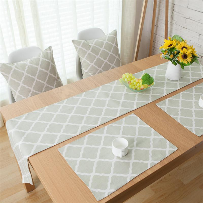 gray table runner dinning