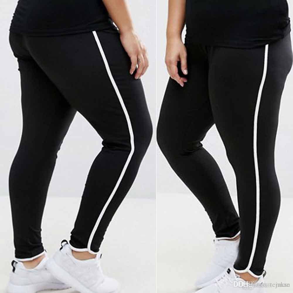 53a31824f1 2019 New Hot Women Plus Size Yoga Pants Sports Gym Clothes Elastic