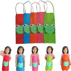 Kitchen Apron For Kids Faucet Sale Canada New Cute Child Children Waterproof Cartoon Frog Printed Painting Cooking From Wudee 25 61 Dhgate Com
