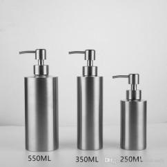 Kitchen Sink Soap Dispenser Bottle Island Tables For 2019 Liquid 304 Stainless Steel Countertop Chrome 250ml 350ml 550ml Silver From Andyandcandy