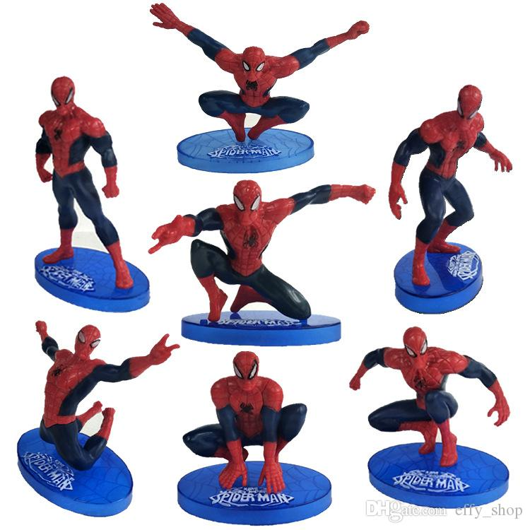 2019 Spiderman Cake Boy Party Cupcake Toppers Picks Kids Baby Shower