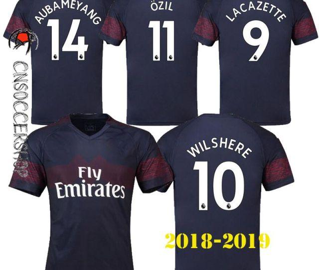 2019 New Arsenal 2018 2019 Jerseys Away Jersey Ozil Aubameyang Giroud Lacazette Xhaka Mkhitaryan Jersey Football Shirt Perfect Quality Kit From Cnsoccershop