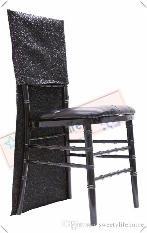 outdoor chair covers for sale shower with back and armrests new products sequin chiavari black glitz banquet cover seats party events chairs decorations kitchen slipcovers sofa