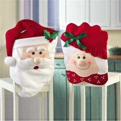 Christmas Folding Chair Covers Makeup Table Supply Red Claus Flannel Dust Proof Handmade Santa Cover For Home Party Festival Decoration Dining To Buy