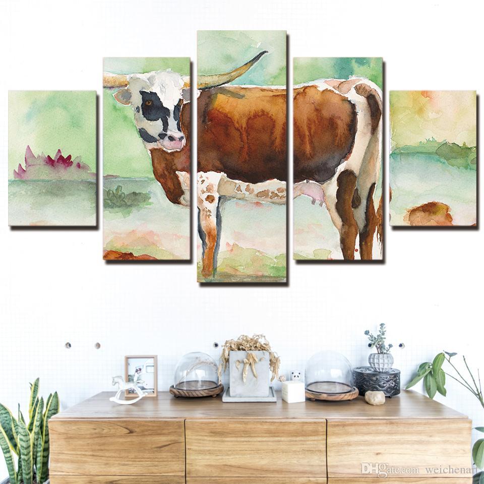 5 panel canvas art