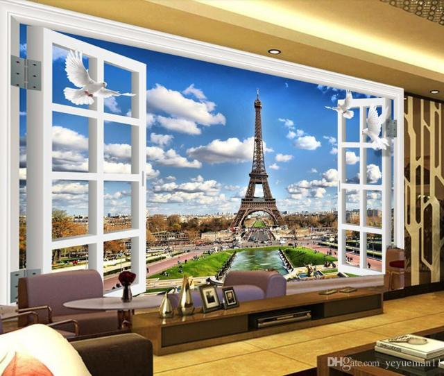 Custom Mural Wallpaper Scenic Paris Tower Wallpaper For Walls  D Living Room Sofa Tv Backdrop Photo Wall Mural Christian Wallpapers Christmas Computer