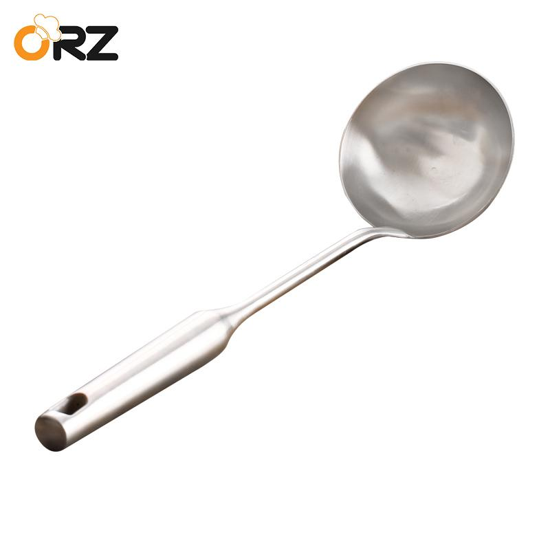 kitchen spoon island ideas for small kitchens orz long handle soup ladle wall hanging stainless steel spatula sauces tableware cooking utensils tool canada 2019 from china smoke