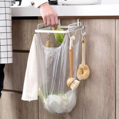 Kitchen Trash Small Pictures Stainless Steel Bag Holder Hanger Garbage Bags Storage Rack Cabinet Door Organizer Hook Accessories Canada 2019 From Aliceer