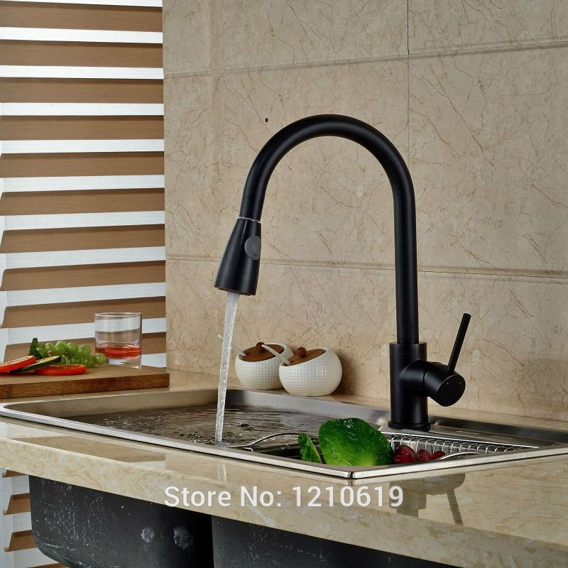 oil rubbed bronze kitchen sink mobile home sinks 2019 newly faucet mixer tap pull down basin single handle hole from sheiler 84 43 dhgate com