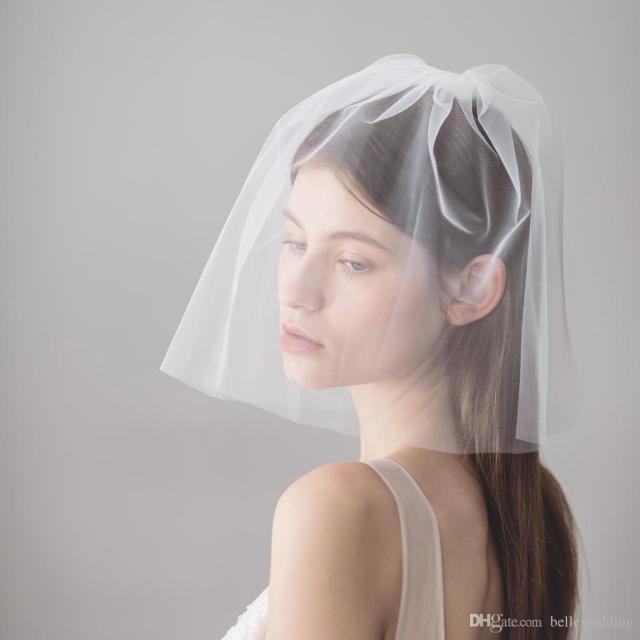 vintage wedding veils face blusher wedding hair pieces 2