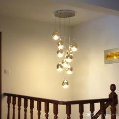 Hanging Pendant Light Living Room Furniture Decorating Ideas 10 Led Lamps Staircase Gold Long Lamp Dining Modern Villa Glass Magic Ball Lights Ship Chandelier Cage