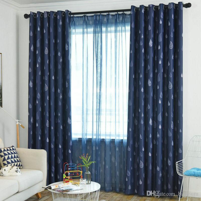 cute curtains for living room designing a small with fireplace 2019 warm cartoon raindrop blackout curtain home decor kids window fabric bedroom treatment from bigmum